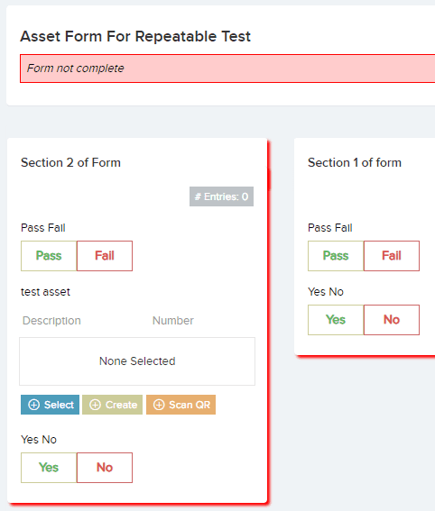 Forms: Asset Selector